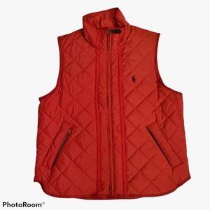 Ralph Lauren red lightweight puff vest size large
